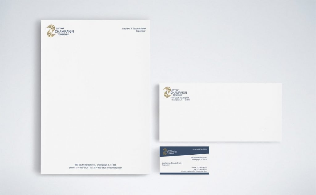 stationery for the City of Champaign Township