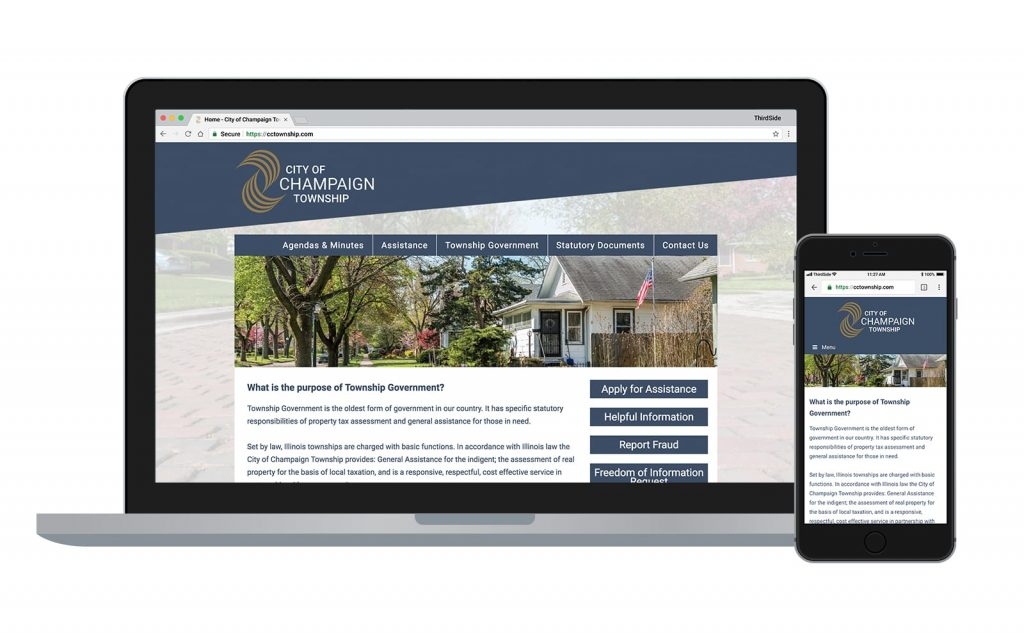 website for the City of Champaign Township