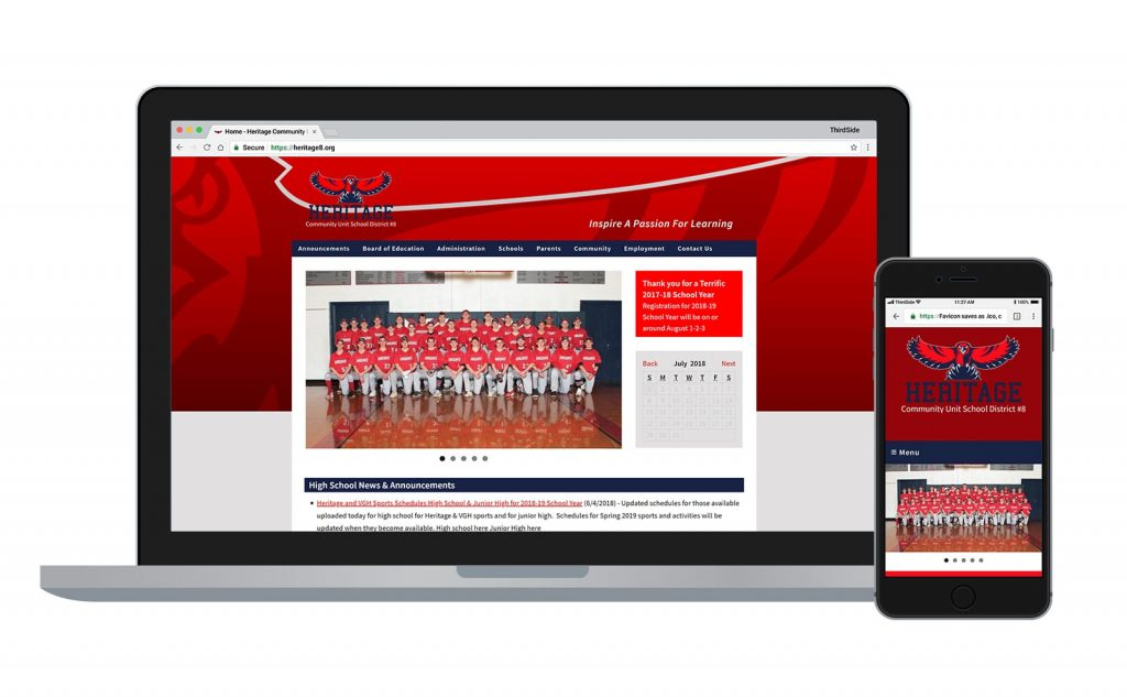 website for Heritage CUSD 8