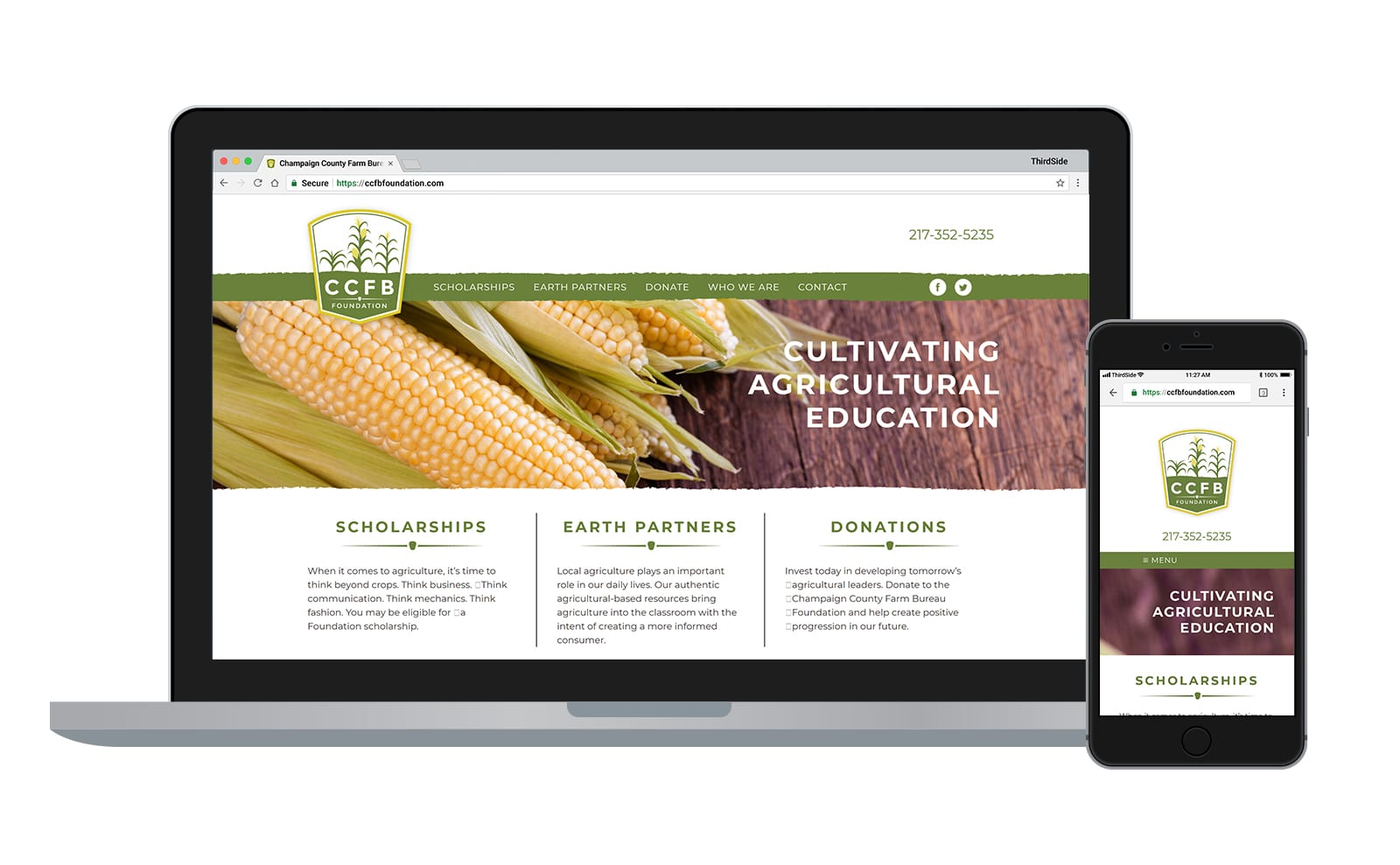 website for the Champaign County Farm Bureau Foundation