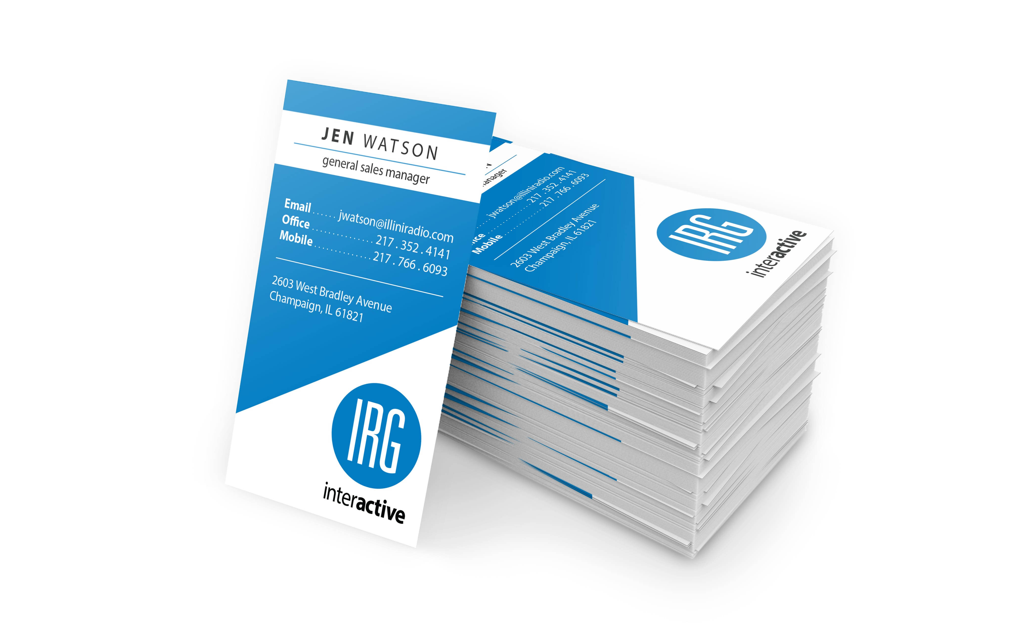 business cards for Illini Radio Group Interactive