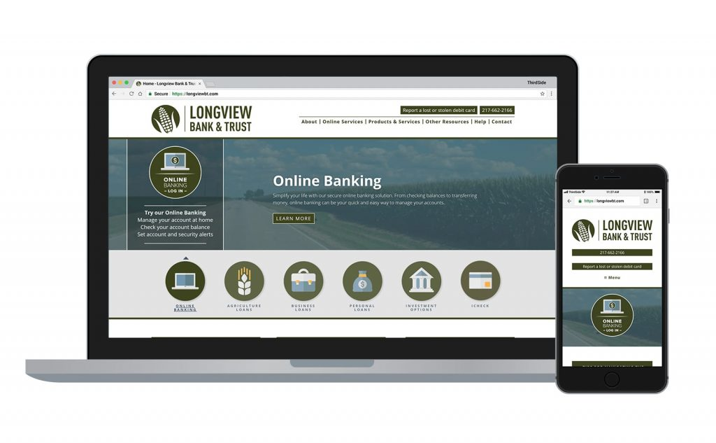 website for Longview Bank & Trust
