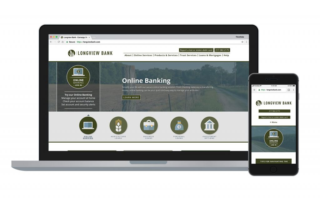 website for Longview Bank