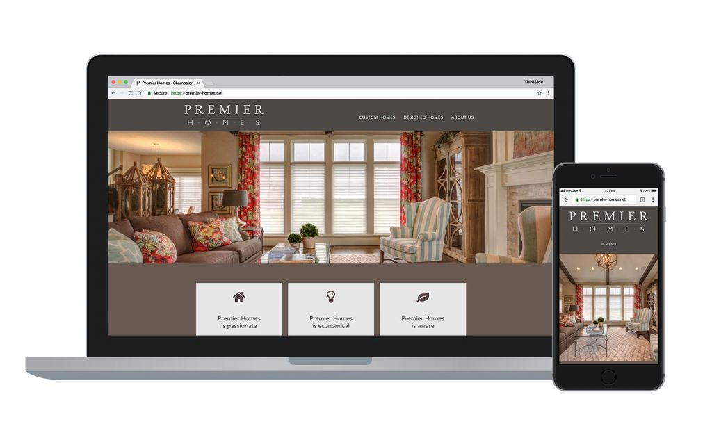website for Premier Homes