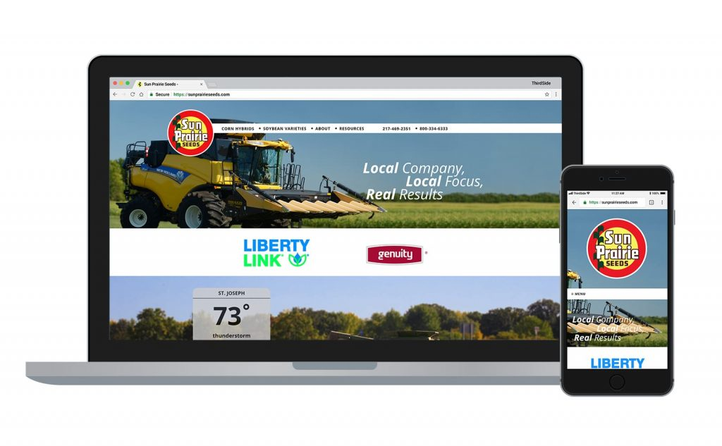 website for Sun Prairie Seeds