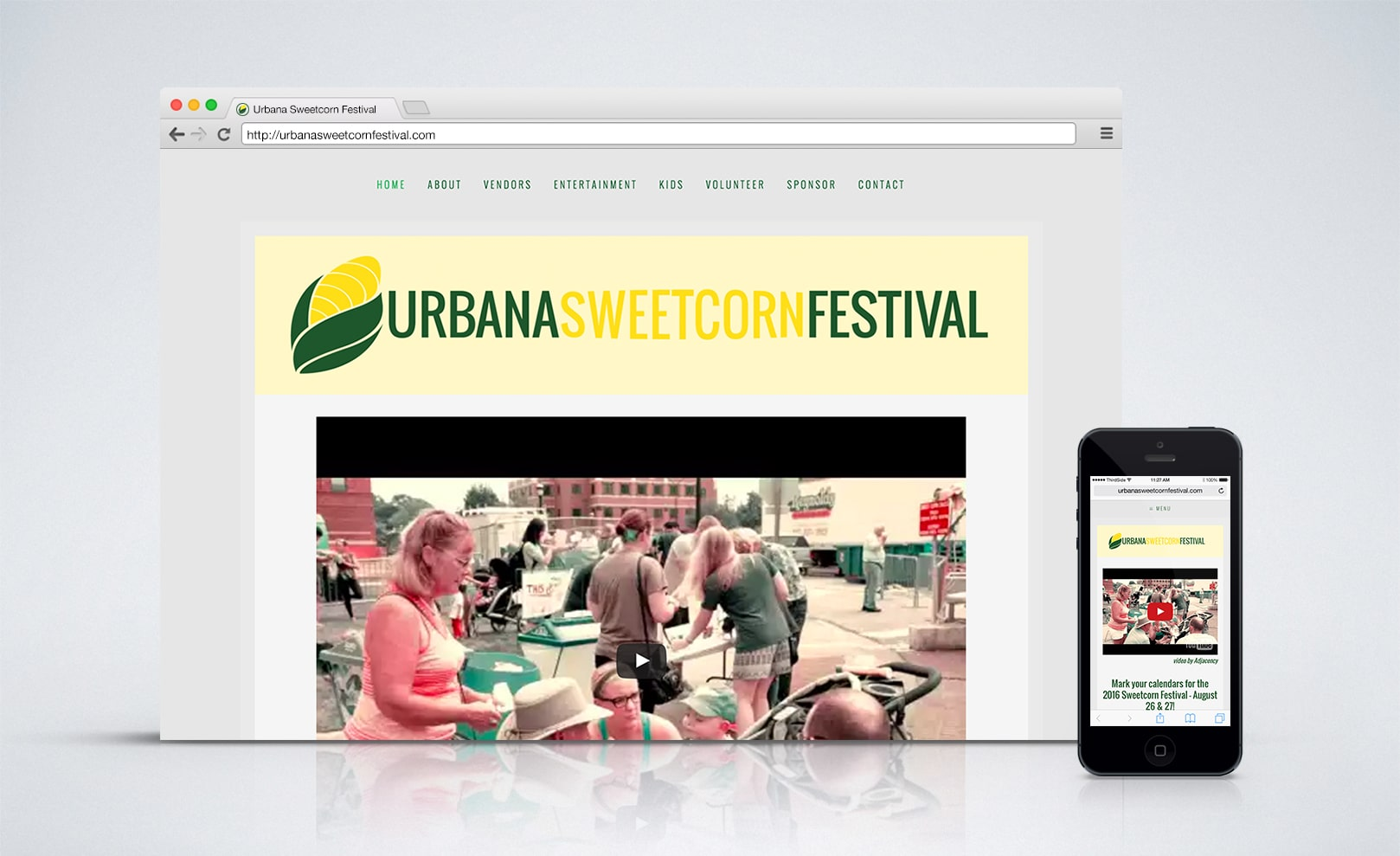 website for the Urbana Sweetcorn Festival