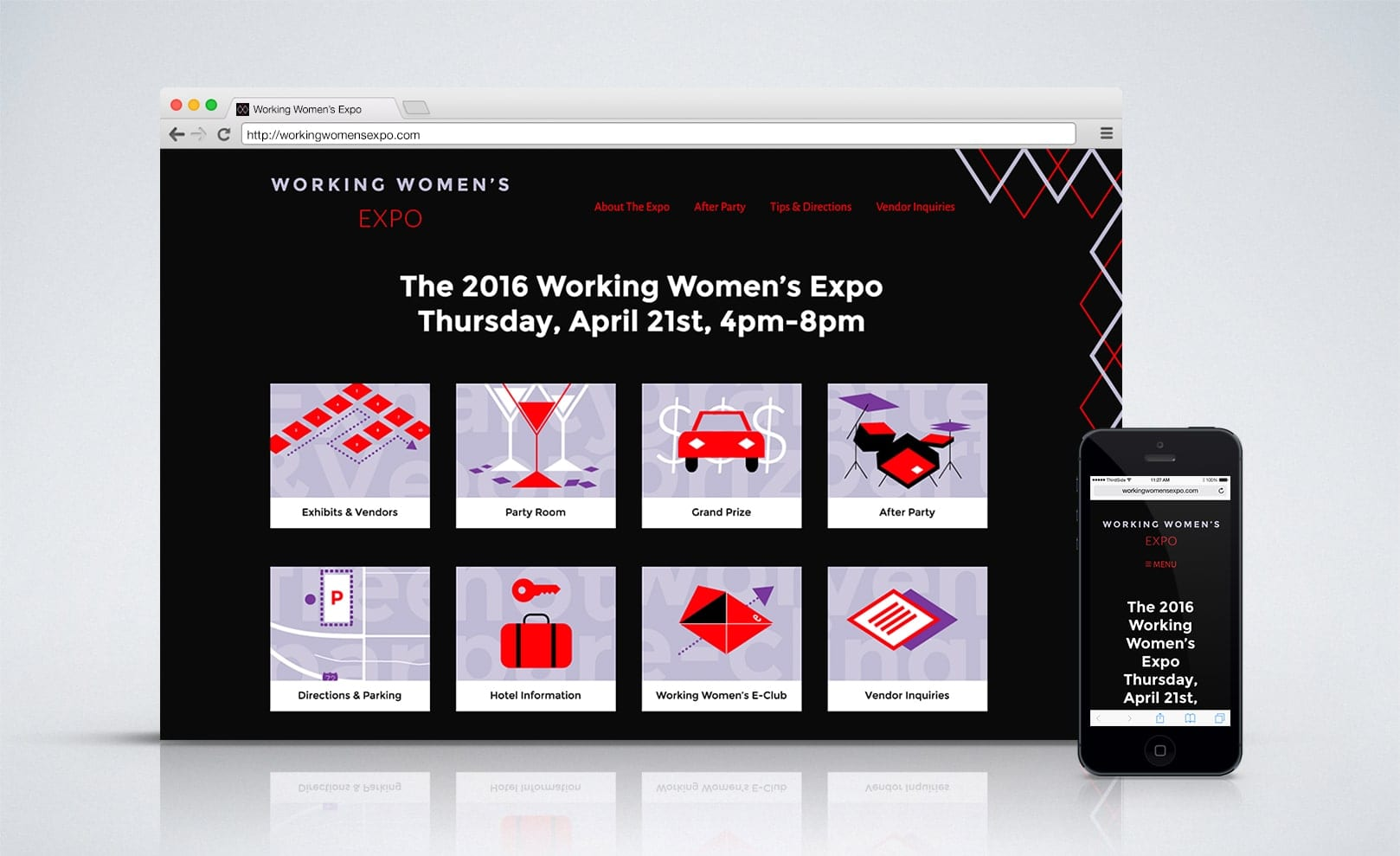 website for the Working Women's Expo