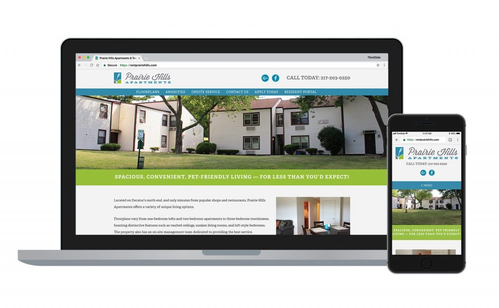 website for Prairie Hills Apartments