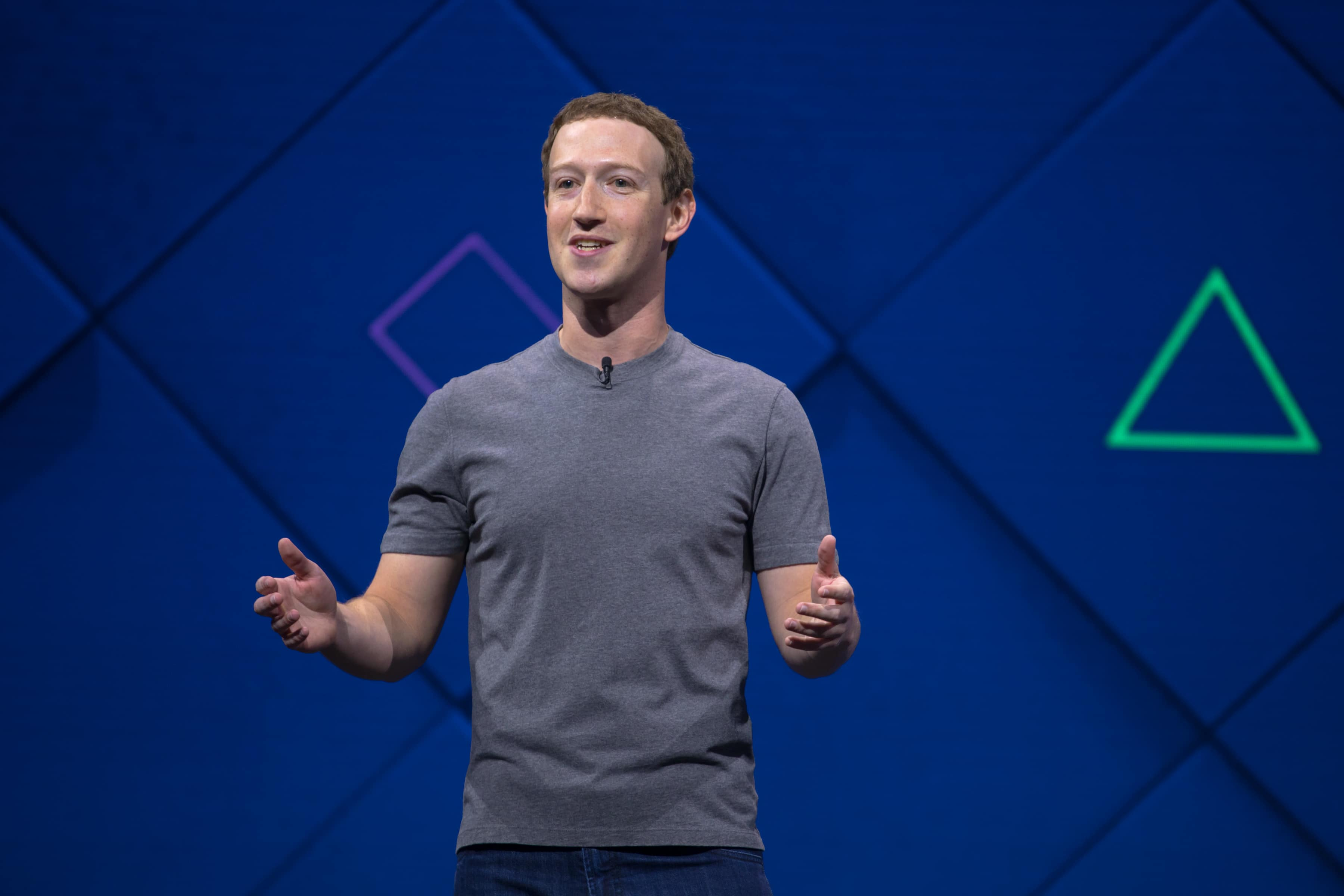 Mark Zuckerberg gives a keynote address the F8 developer conference.