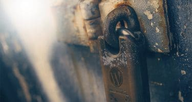 lock with WordPress logo