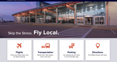 new website for Willard Airport in Champaign - iflycu.com
