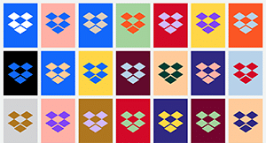 Dropbox no longer has a specific color associated with its brand