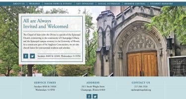 new website for the Chapel of Saint John the Divine web design by ThirdSide