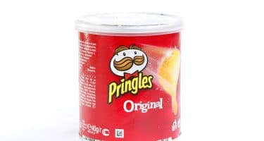 closeup of short Pringles can balance of function and aesthetic