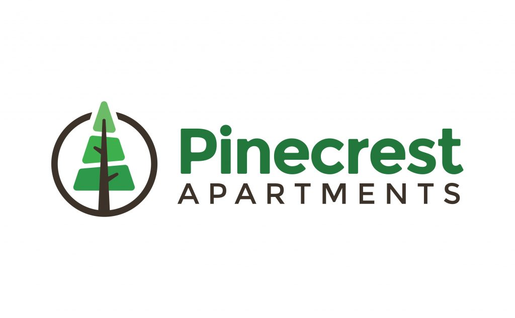 new logo design for Pinecrest Apartments