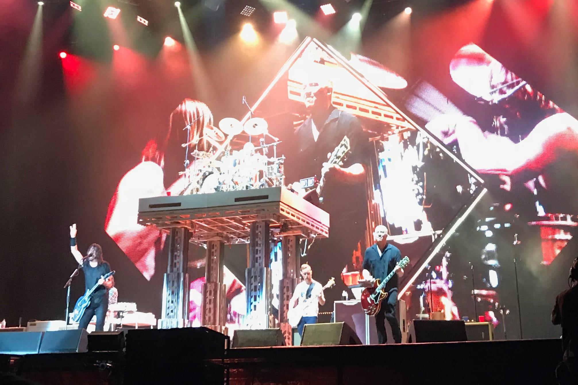 Foo Fighters concert lighting Wrigley Field