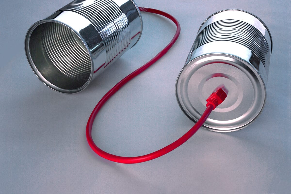 communication with a tin can phone