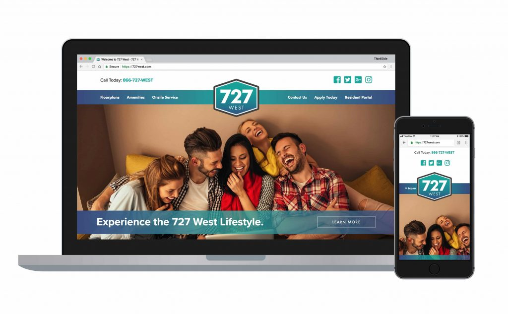 website for 727 West