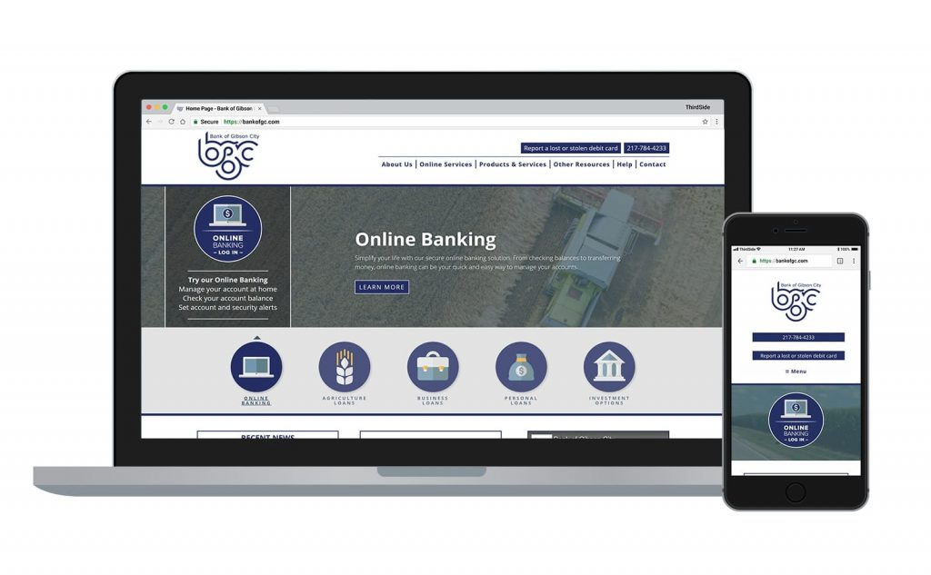 website for Bank of Gibson City