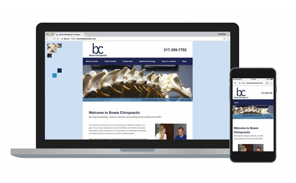 website for Bowie Chiropractic