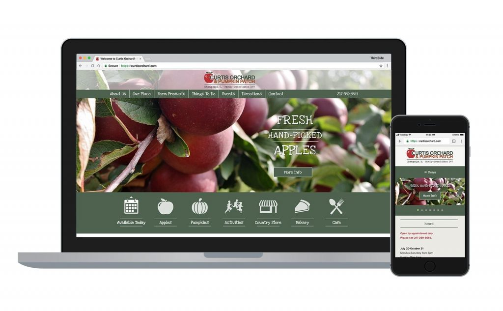 website for Curtis Orchard