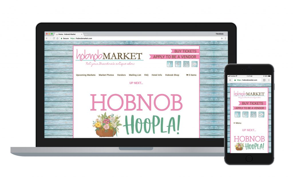 e-commerce website for Hobnob Market
