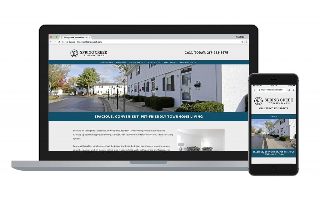 Spring Creek Townhomes website design