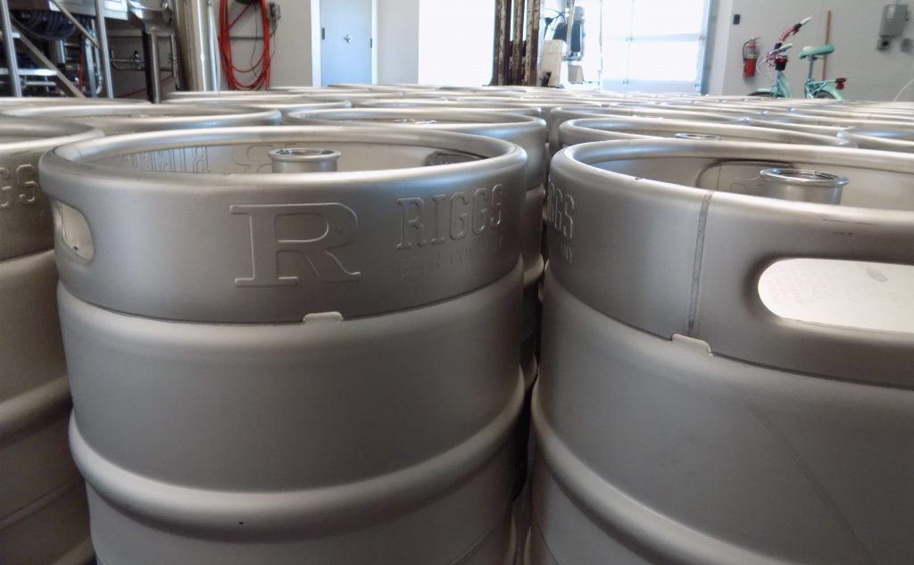 Riggs Beer Company kegs