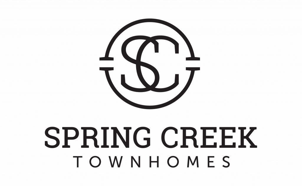 Spring Creek Townhomes logo design