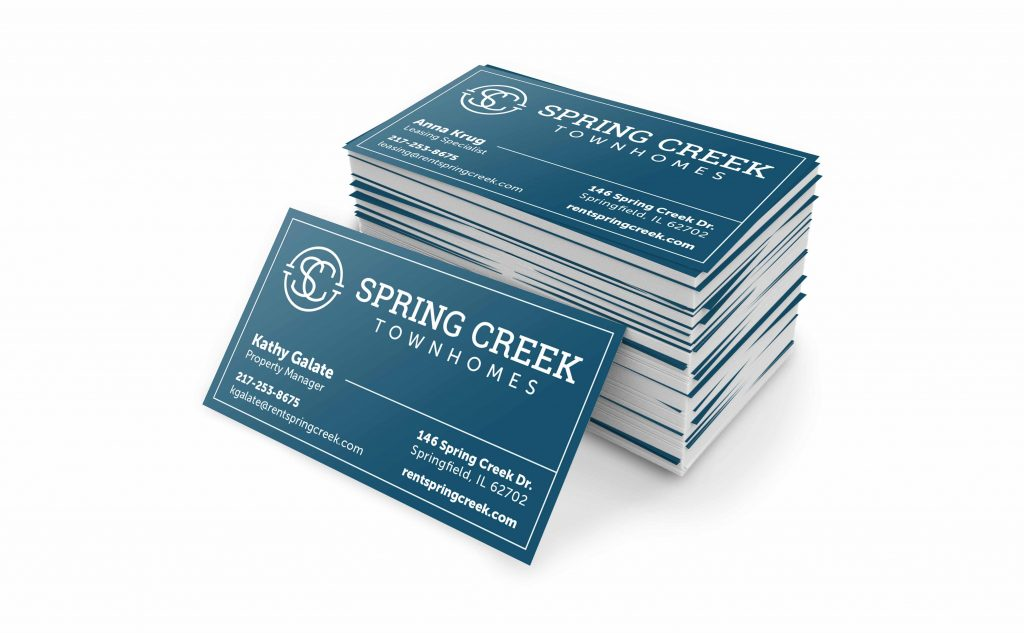 Spring Creek Townhomes business card