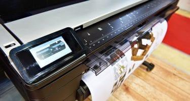 large format printing job