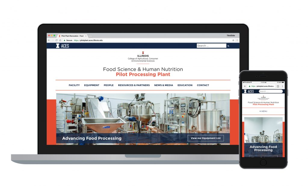 website for Pilot Processing Plant