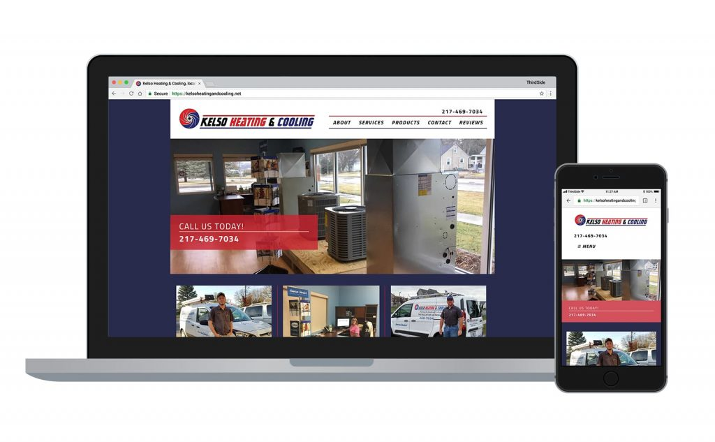 website for Kelso Heating & Cooling