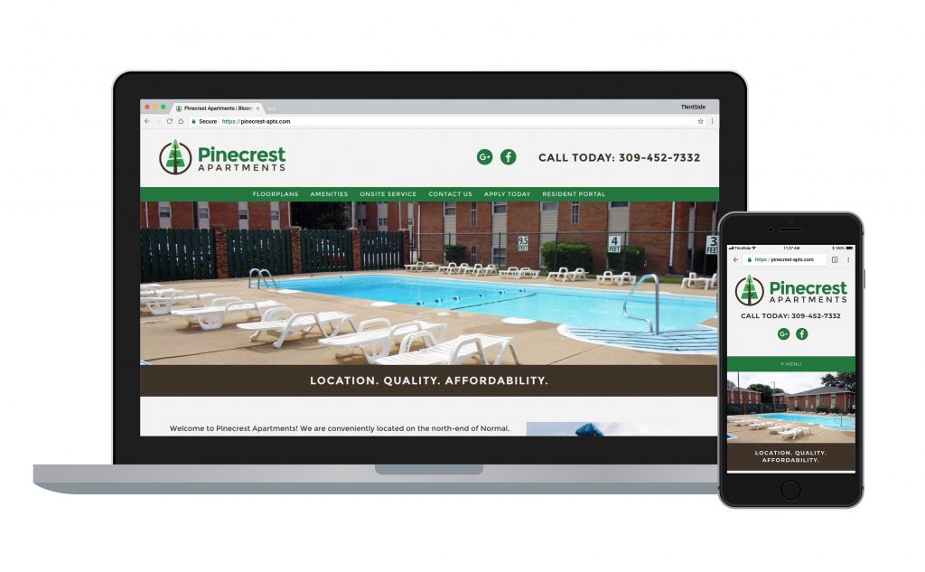 website for Pinecrest Apartments