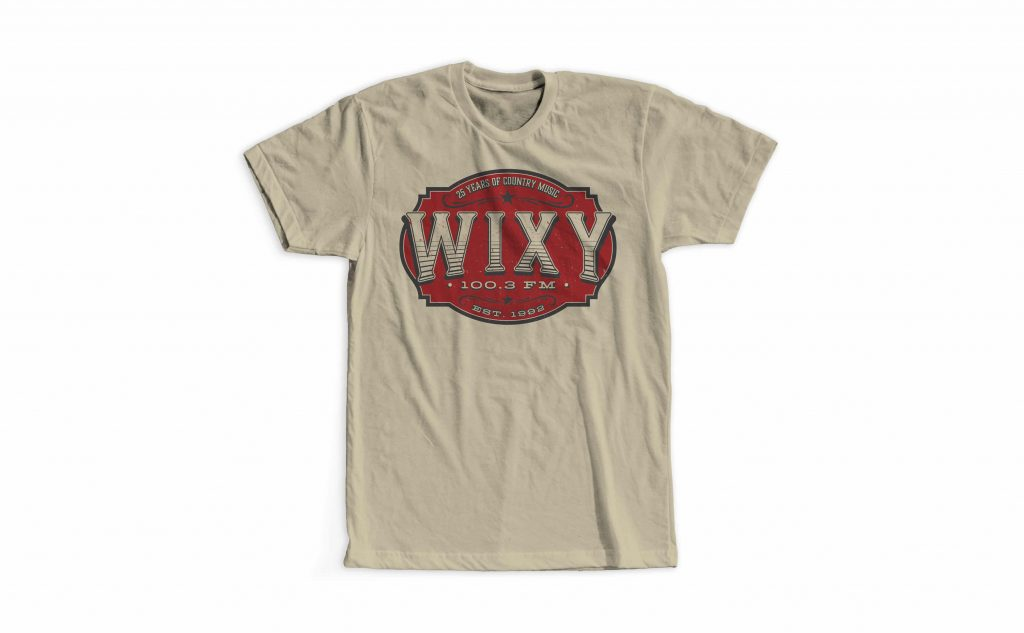 WIXY 25th Anniversary shirt