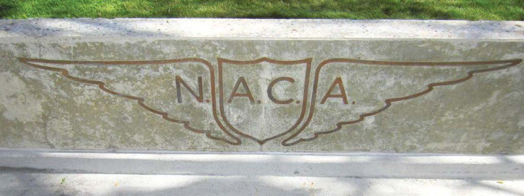 NACA logo in stone