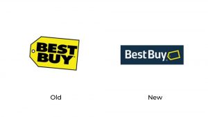 old and new logos for Best Buy