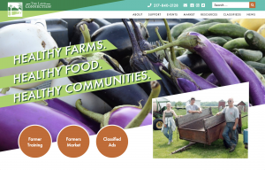 screenshot of the new website for The Land Connection