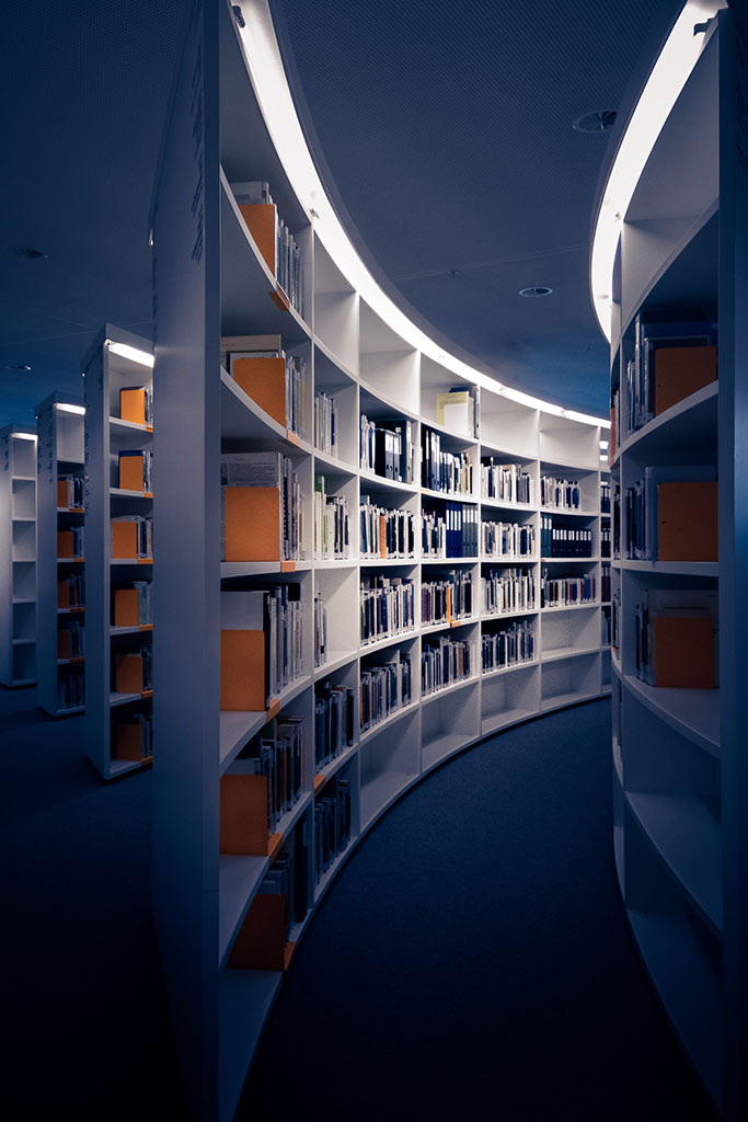 Picture of library stacks