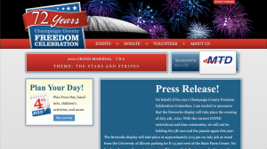 old website for Champaign County Freedom Celebration